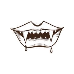 Vampire mouth.