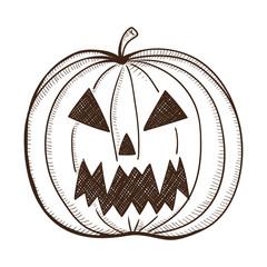 Evil pumpkin lantern.