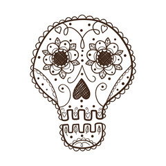Decorative skull.
