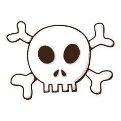 Skull and bones. Jolly Roger symbol.