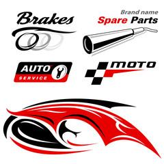 auto moto vector icons