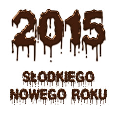 Sweet New Year 2015 chocolate polish poster