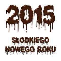 Sweet New Year 2015 chocolate polish poster