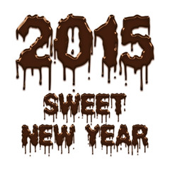 Sweet New Year 2015 chocolate poster