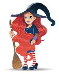 Streghetta con i capelli rossi