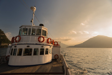 The old ferry at Lake Como during the golden hour, Lake Como