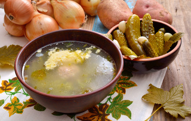 Soup with pickles
