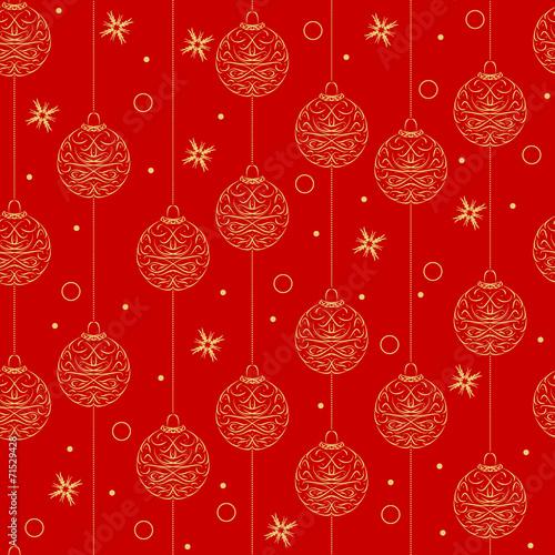 Deurstickers Kunstmatig christmas design, seamless pattern