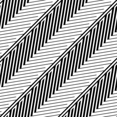 Herringbone Style Geometric Optical Black White Vector Seamless