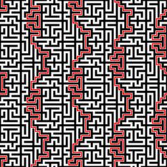 Maze Vector Seamless Pattern