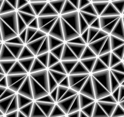 Triangular Geometric Mosaics, Vector Seamless Background Pattern