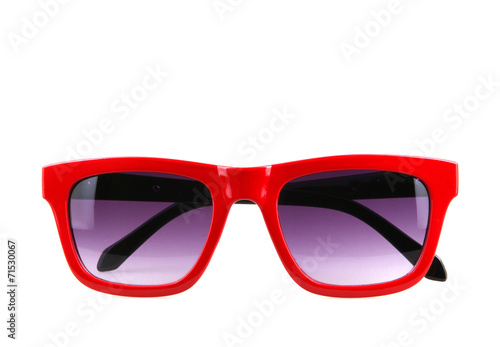 canvas print picture sunglasses isolated on white