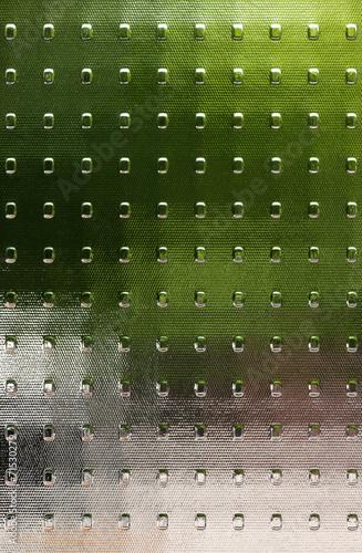 canvas print picture Strukturglas mit durchscheinenden Farbflächen