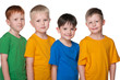 Four happy little boys