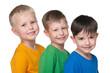 Three happy little boys