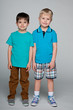 Two fashion smiling little boys