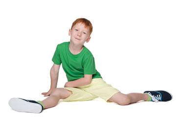 Cute little boy in the green shirt