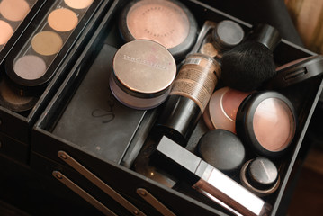 Set of professional make-up palette