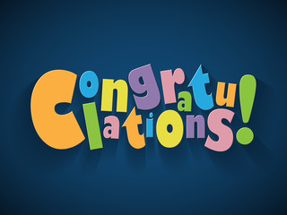 """CONGRATULATIONS"" (card well done achievement)"