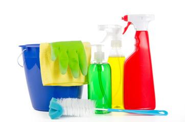 putzeimer mit reinigungsmittel