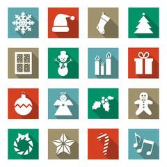 Flat Christmas Icons 2014