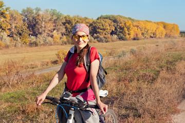 Portrait of a female cyclist