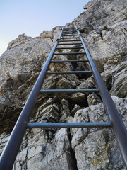 steep ladder