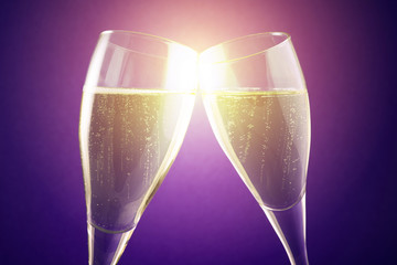 sparkling wine bubbles
