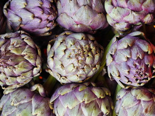 artichokes in a bucket