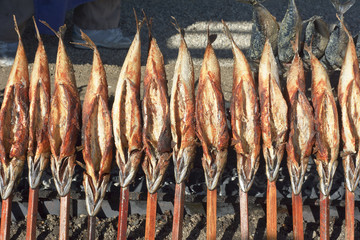 Roasted Fish on a Stick