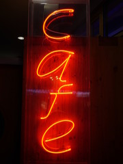 lighting letters sign cafe