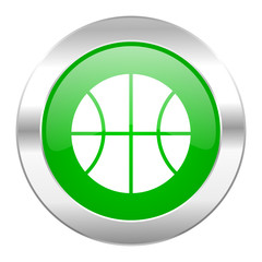 ball green circle chrome web icon isolated
