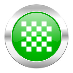 chess green circle chrome web icon isolated