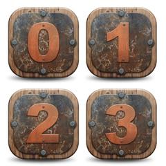 Plaques rustiques - numéros