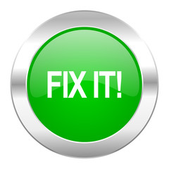 fix it green circle chrome web icon isolated
