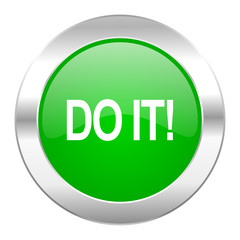 do it green circle chrome web icon isolated