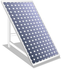 Solar panel photovoltaics ecologic white