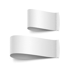 white tab set