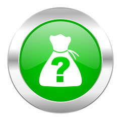 riddle green circle chrome web icon isolated