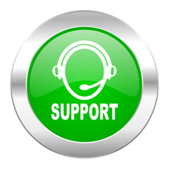 support green circle chrome web icon isolated