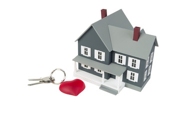 house with a key against a white background