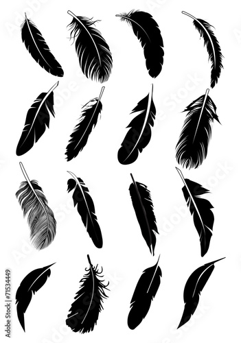 Feather icons set poster
