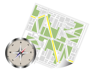 Map Navigation with compass