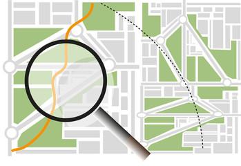 Map Navigation search