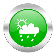 rain green circle chrome web icon isolated