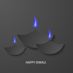 Vector modern happy diwali background.
