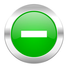 minus green circle chrome web icon isolated