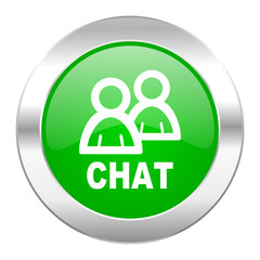 chat green circle chrome web icon isolated