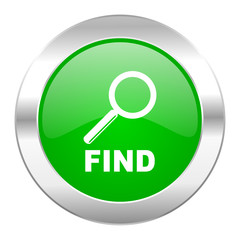 find green circle chrome web icon isolated