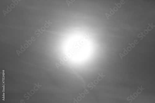 canvas print picture Sonne hinter Wolkenbank